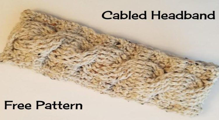 Cabled Headband Free Pattern Going Slightly Mad